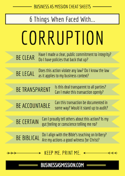 BAM Cheat Sheet Corruption