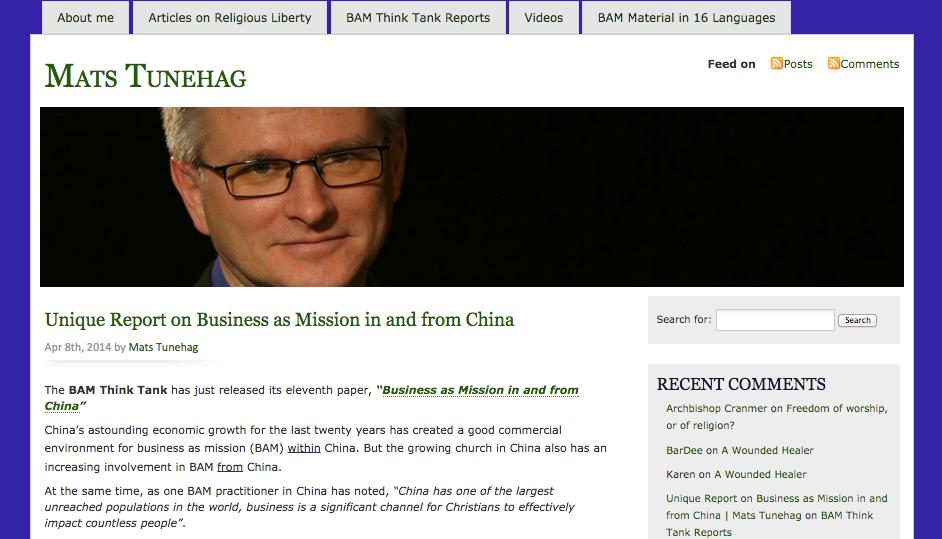 MatsTunehag website