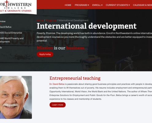 Training: Northwestern Online training
