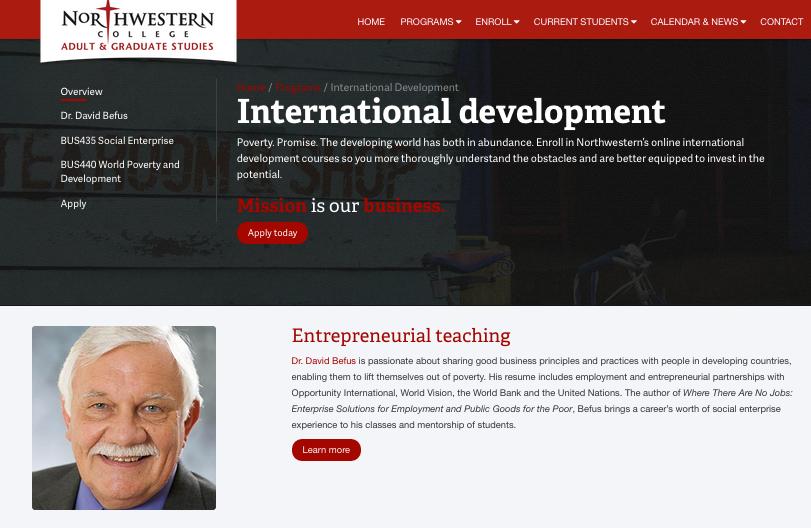 Training: Northwestern Online training