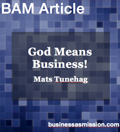 Article: God Means Business