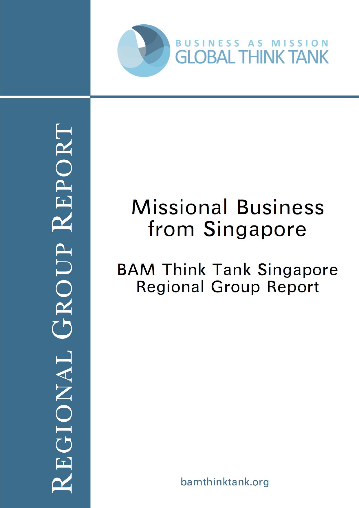 BAM Think Tank Report: Singapore