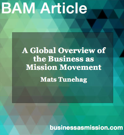 Article: A Global Overview of the Business as Mission Movement