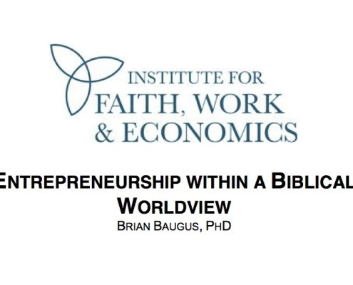 Paper: Entrepreneurship WIthin a Biblical Worldview