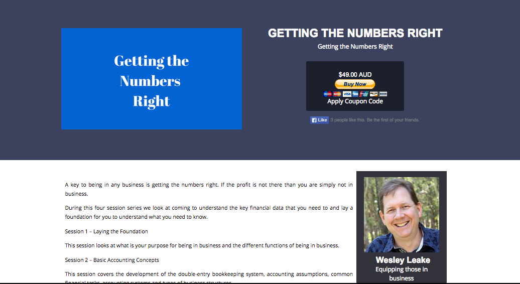Training: Getting the Numbers Right