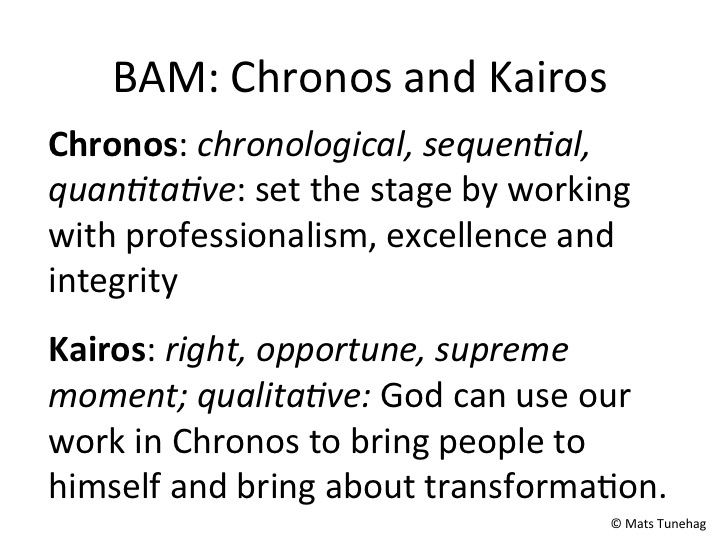 Chronos and Kairos