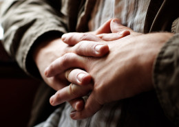 hands clasped front