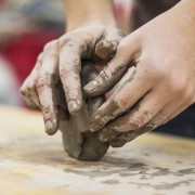 clay in hands