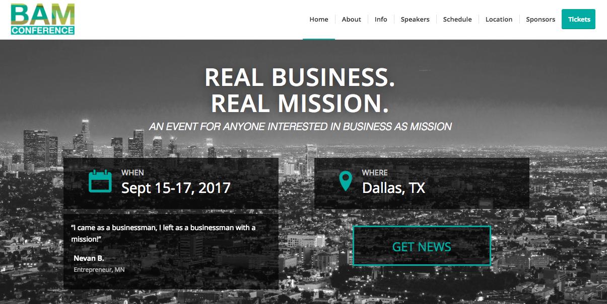 Event: BAM Conference USA, Sept 2017