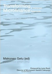 Book - Transforming Microfinance