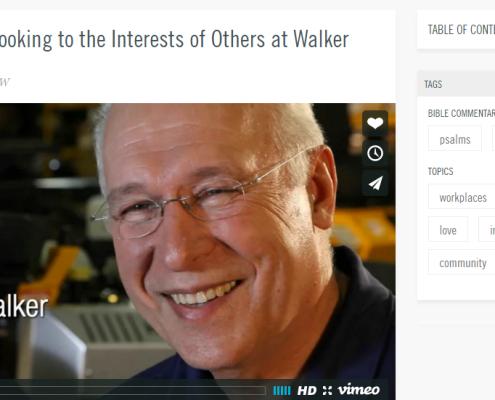 Video - Bob Walker