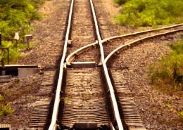 train track junction
