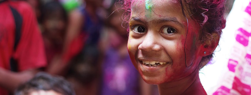 girl at holi