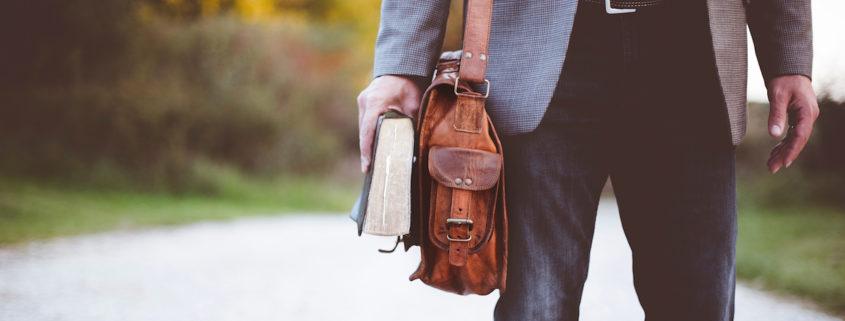 work bag and bible
