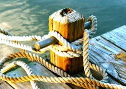rope tied to dock