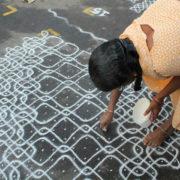 kolam - http://english.astroawani.com/malaysia-news/deepavali-evolution-humble-kolam-46444